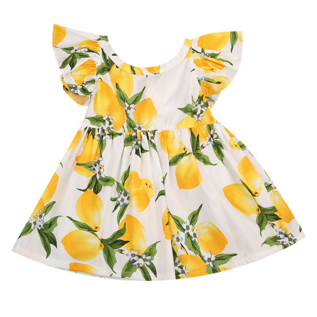 Lemon Fruit Pattern Dress - MunchkinGear.com