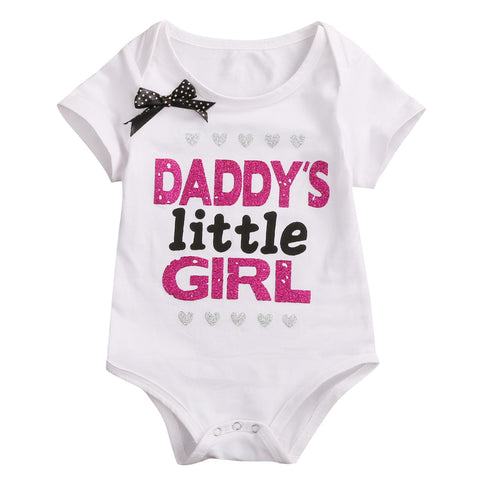 Daddy's Little Girl Glitter Onesie
