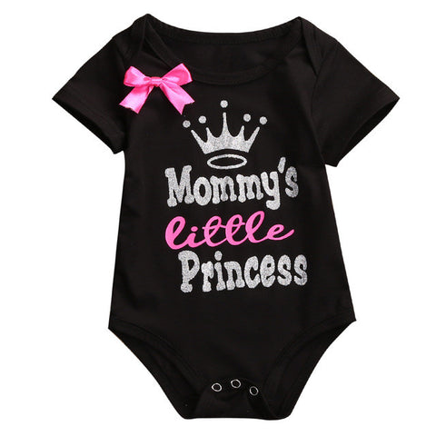 Mommy's Little Princess Glitter Onesie