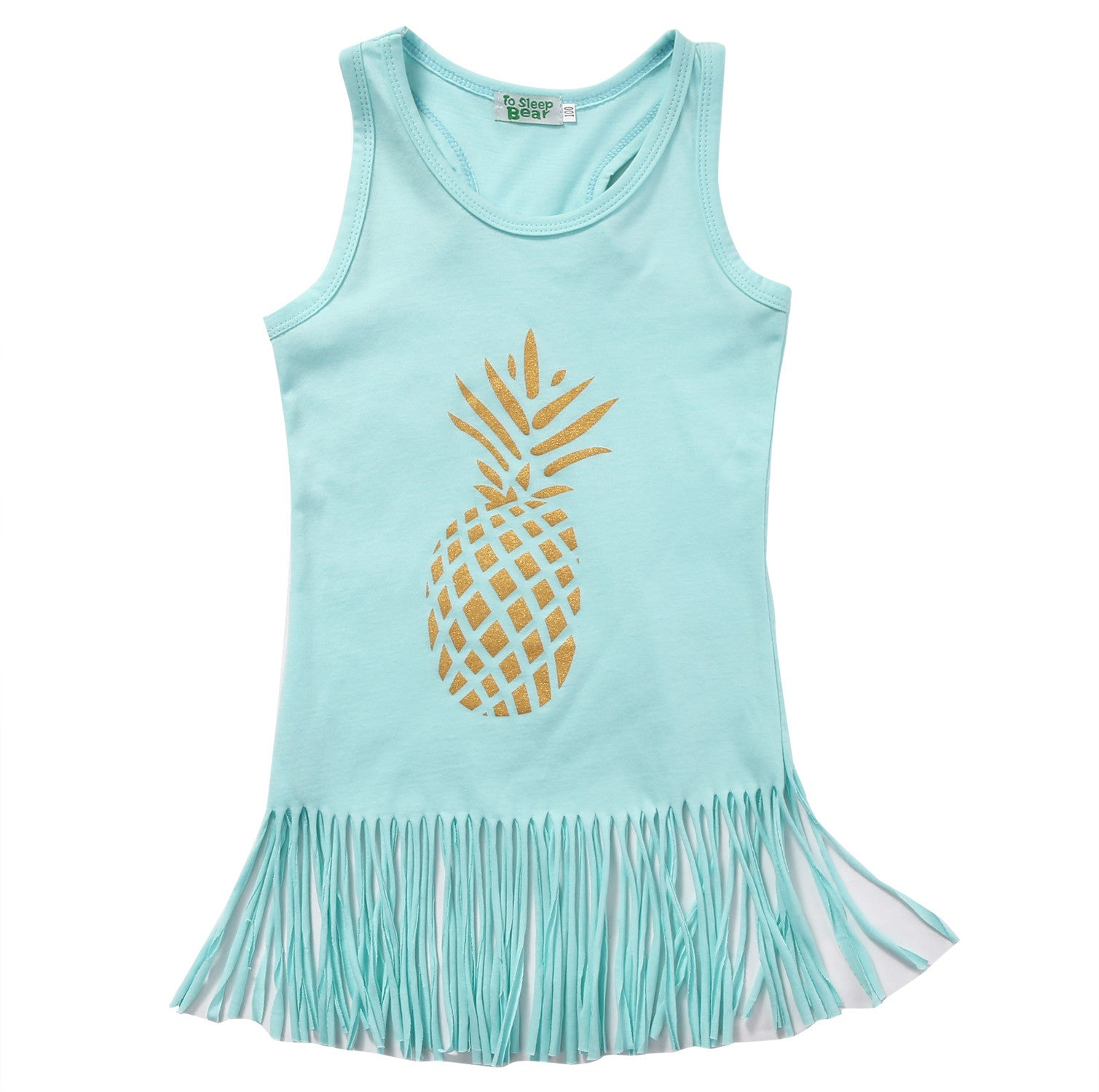 Blue Pineapple Dress - MunchkinGear.com