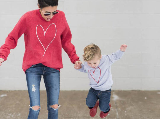 Mommy and Baby Matching Hearts - MunchkinGear.com