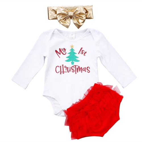 My 1st Christmas 3 Pc Set - MunchkinGear.com