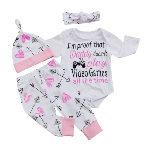 I'm Proof That Daddy Doesn't Play 4 PC Set - MunchkinGear.com