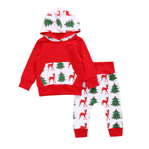 Christmas Spirit Hoodie and Pants 2 Pc Set - MunchkinGear.com