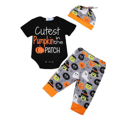 Cutest Pumpkin 3 Pc Set