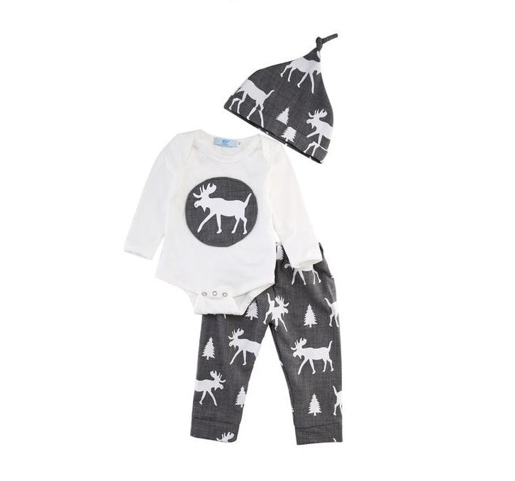 Moose Pattern 3 Pc Set - MunchkinGear.com