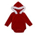 Santa Hooded Bodysuit With Fur