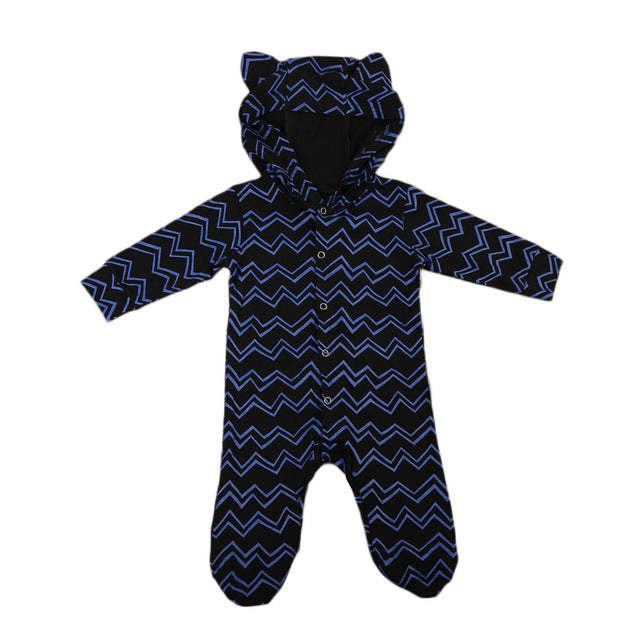 Zigzag Pattern Animal Romper