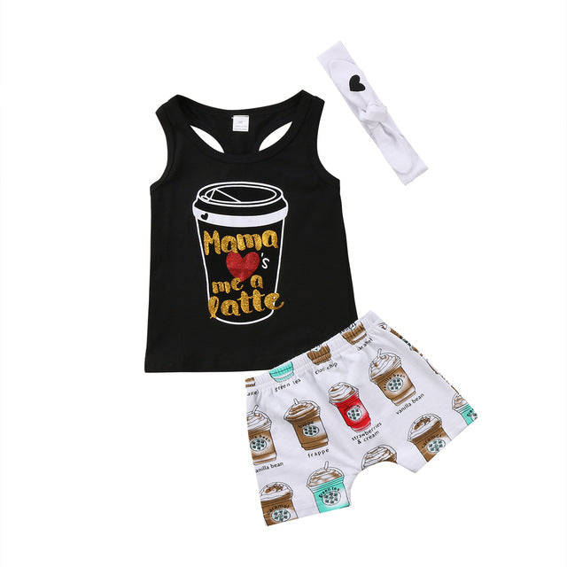 Mama Loves me a Latte 3 PC Set - MunchkinGear.com