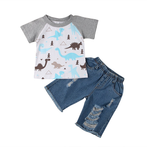 Dino and Denim 2 Piece Set - MunchkinGear.com