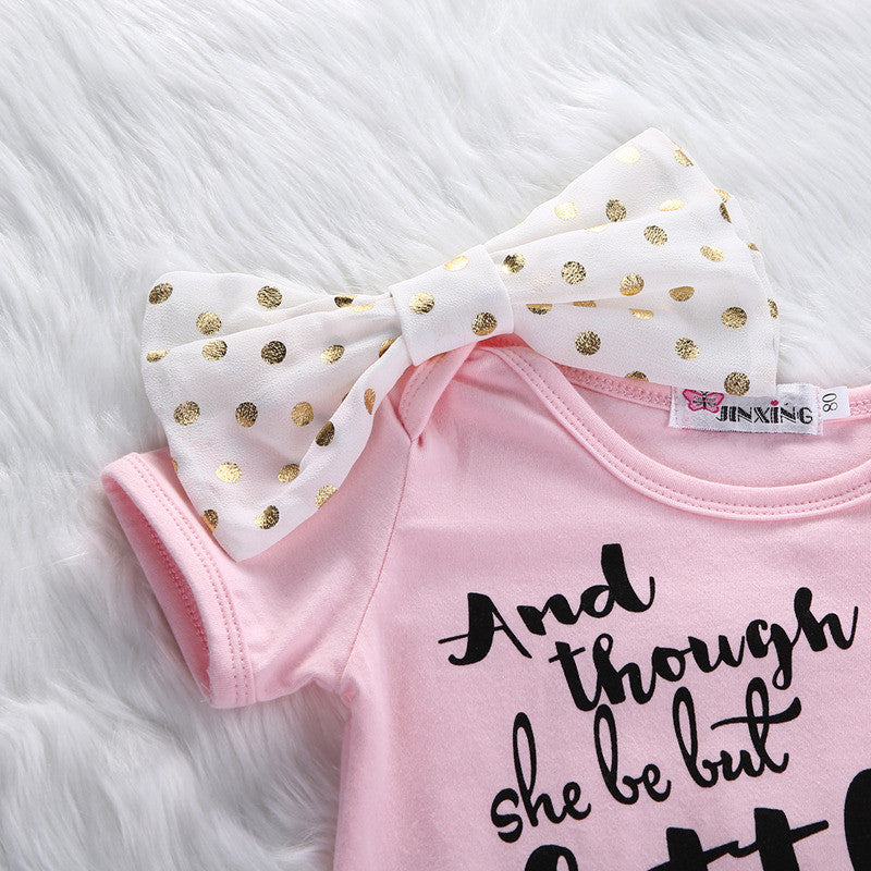 She Is Fierce Onesie With Glitter - MunchkinGear.com