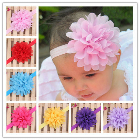 Satin Flower Headbands - MunchkinGear.com