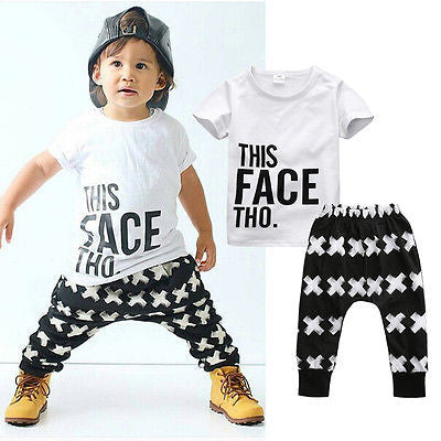 This Face Tho Short Sleeve T-Shirt & Harem Pants Set - MunchkinGear.com
