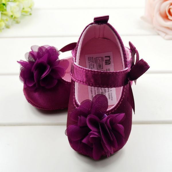 Purple Flowered Shoes - MunchkinGear.com