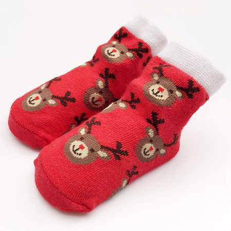 Raindeer Baby Socks