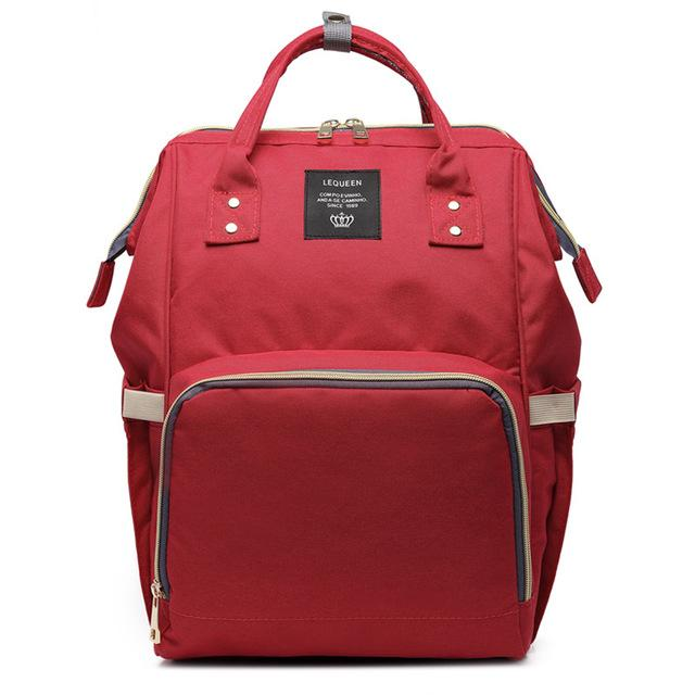Red Fashionable Diaper Bag