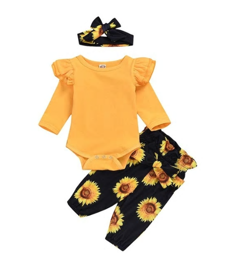 SunFlower Power Summer 3 Pc Set - MunchkinGear.com