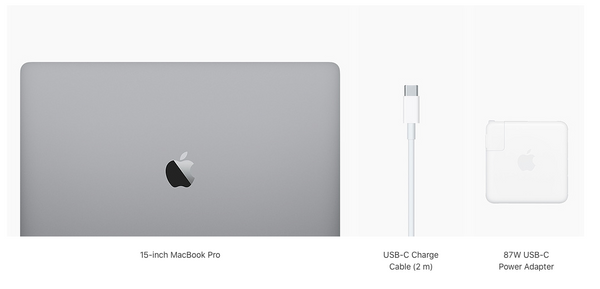 What's in the box with a MacBook Pro