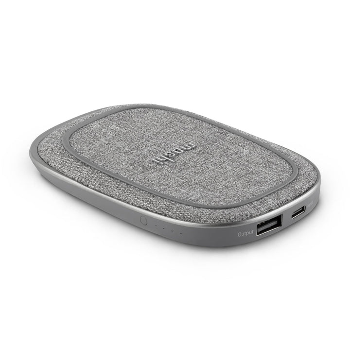 Moshi Porto Q 5K Portable Battery with Built-in Wireless Charger - Nordic Gray