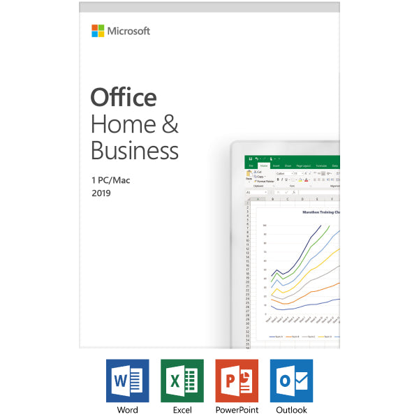 Microsoft Office Home and Business 2019 | 1 device, Mac/Windows 10 PC Key Card