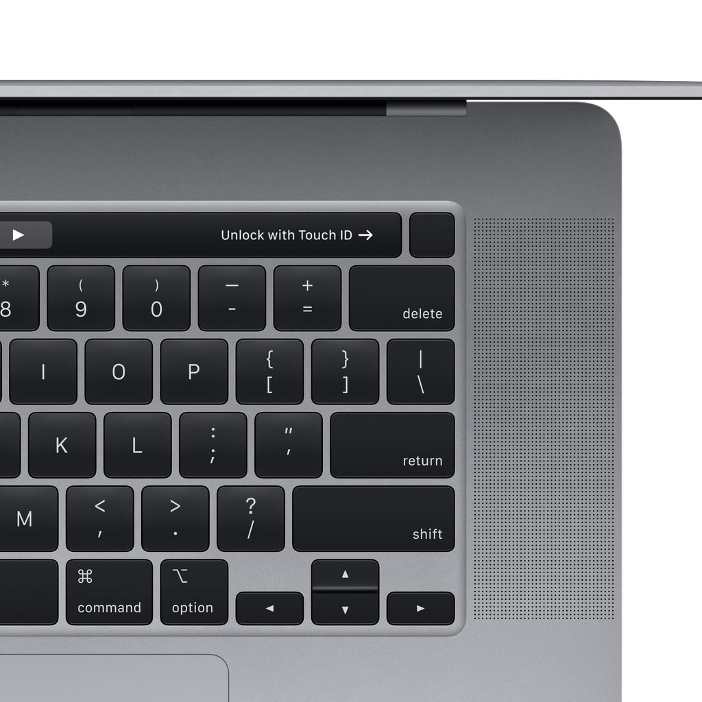 16-inch MacBook Pro with Touch Bar - Space Gray - Top Right
