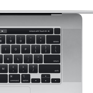 16-inch MacBook Pro with Touch Bar - Silver - Top Right