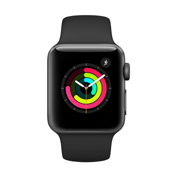 Apple Watch Series 3 - Space Gray Aluminum with Black Sport Band