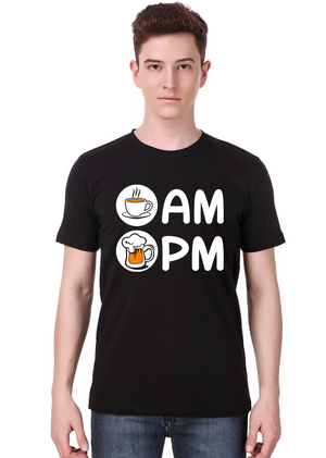 Am-Pm-t-shirt-design-online-fashion-shopping-India-at-Gajari-front
