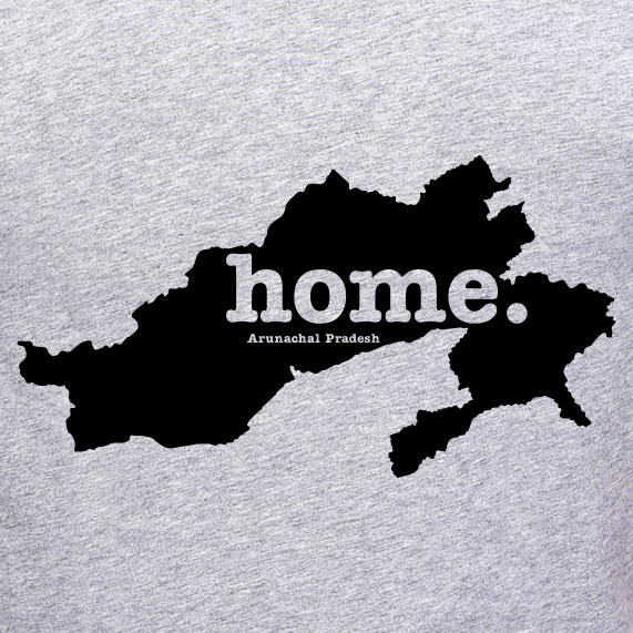 Arunachal-Pradesh-state-map-home-t-shirt-FOR-WOMEN-online-shopping-india-at-best-price-free-home-delivery-no-shipping-cost-at-gajari.com-the-best-t-shirt-brand-gajari