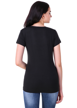 Atal-Bihari-Vajpayee-Half-Sleeve-T-Shirt-for-Women---Gajari-back-view