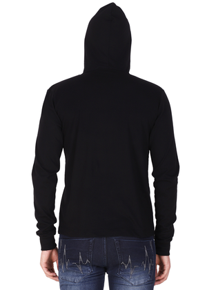 branded hoodies for men black full sleeve made of pure cotton jersey bv