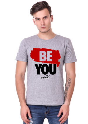 Be-You-Half-Sleeve-T-Shirt-for-Men---Gajari-fv