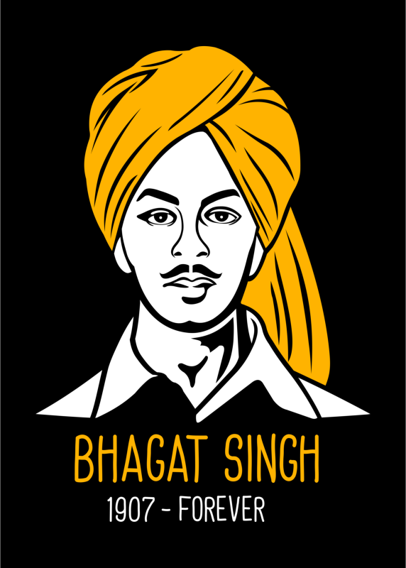 Shaheed Bhagat Singh T-Shirt for Men - Gajari