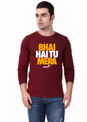 Bhai-Hai-Tu-Mera-Full-Sleeve-T-Shirt-for-Men-Gajari