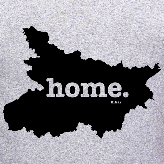 Bihar-state-map-home-t-shirt-online-shopping-india-at-best-price-free-home-delivery-no-shipping-cost-at-gajari.com-the-best-t-shirt-brand-gajari
