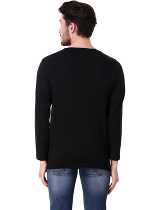 Black Long Sleeve Plain T-Shirt for Men