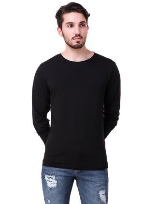 Black-Long-Sleeve-Plain-T-Shirt-for-Men-Online-at-Gajari.com-The-Best-T-Shirt-Brand-fv1
