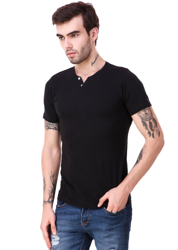 Black-Short-Sleeve-Plain-T-Shirt-for-Men-Online-at-Gajari.com-The-Best-T-Shirt-Brand-fv