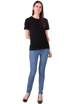 Black-Short-Sleeve-Plain-T-Shirt-for-Women-Online-at-Gajari.com-The-Best-T-Shirt-Brand-ffv