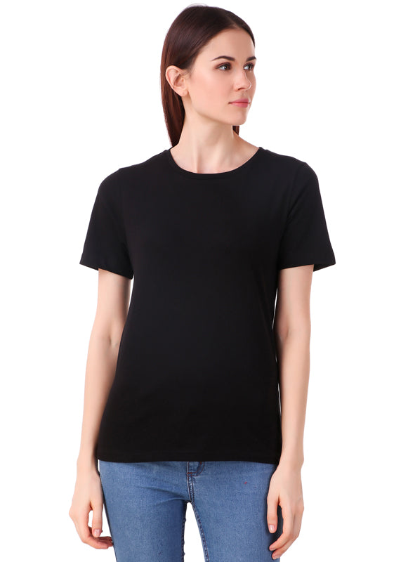 Black-Short-Sleeve-Plain-T-Shirt-for-Women-Online-at-Gajari.com-The-Best-T-Shirt-Brand-fv1