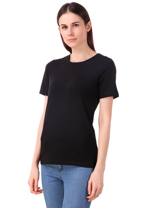 Black-Short-Sleeve-Plain-T-Shirt-for-Women-Online-at-Gajari.com-The-Best-T-Shirt-Brand-lv