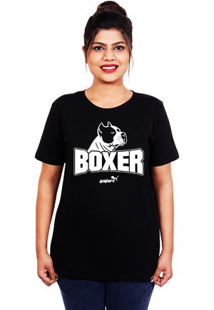Boxer-Dog-T-Shirt-India-for-Women-Online-at-Gajari