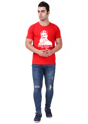 Chandra-Shekhar-Azad-Printed-t-shirt-for-men-Online-shopping-India-at-Gajari-the-best-T-Shirt-Brand-front1