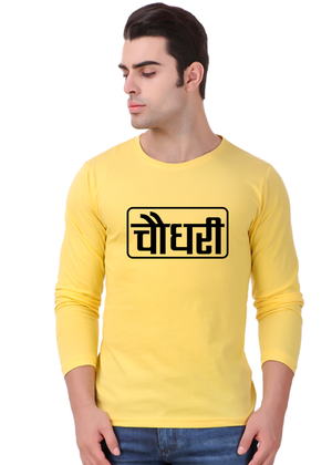 Choudhary-Printed-Half-Sleeve-T-Shirt-For-Men-Online-India-@-Gajari-front