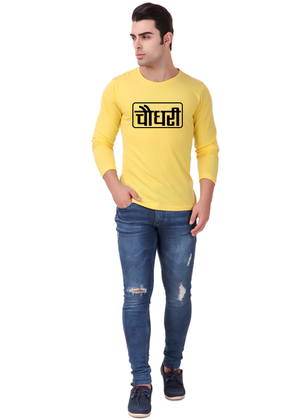 Choudhary-Printed-Half-Sleeve-T-Shirt-For-Men-Online-India-@-Gajari-full-front