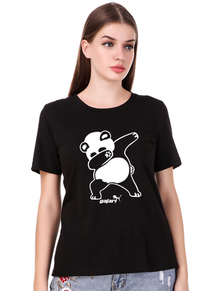 Dabbing-Panda-T-Shirt-for-Women---Gajari--fv