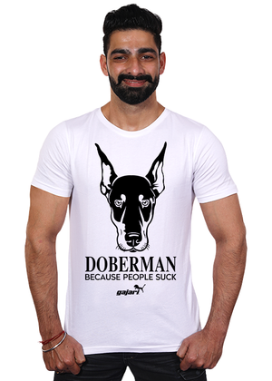 Doberman-Dog-T-Shirts-India-for-men-online-at-gajari-the-best-apparel-brand