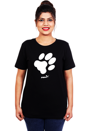 Dog-Paw-T-Shirt-for-women-online-at-gajari