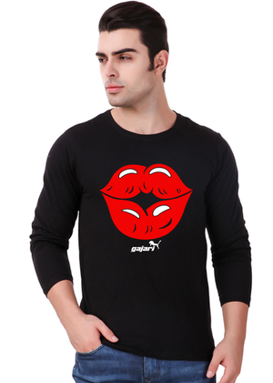 First-Kiss-Full-Sleeve-T-Shirt-for-Men---front