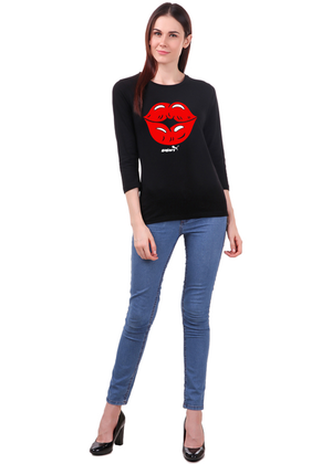 First-Kiss-Long-Sleeve-T-Shirt-for-Women---Gajari---full1